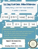 Fact Family Flash Cards - Addition and Subtraction to 20