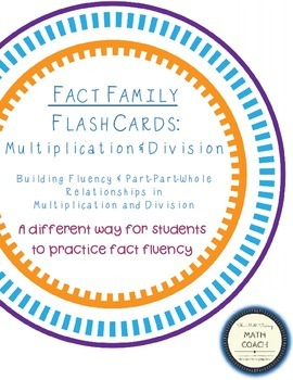 Fact Family Flash Cards:  Multiplication and Division x0 to x10