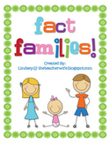 Fact Family Flash Cards and Booklet