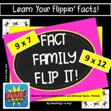 First Dozen Free Fact Family Flip It! 9 x 7 to 9 x 12 BOOM! Digital Fact Fluency