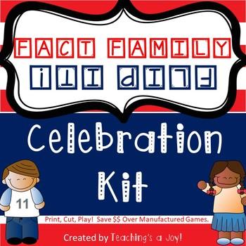 Fact Family Flip It! Celebration Kit