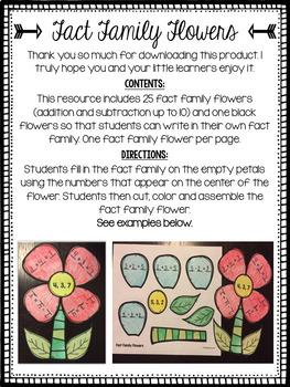 Fact Family Flowers