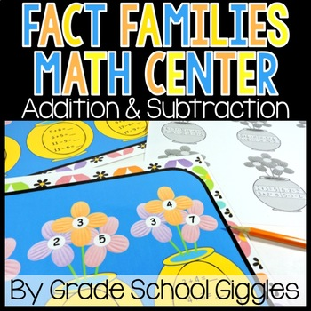 Fact Families Addition Subtraction Center