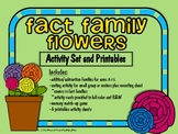 Fact Family Flowers Activity Set and Printables (B&W Activities Included)