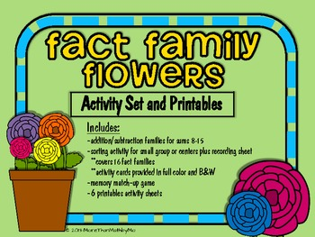 Fact Family Flowers Activit... by More than Math by Mo | Teachers ...