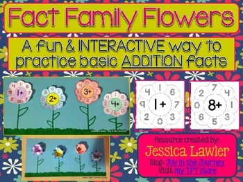 Fact Family Flowers: Interactive Notebook Foldables