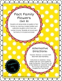 Addition/Subtraction Fact Family Flowers (Set B)