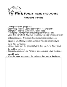 Fact Family Football