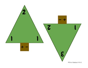 Winter Fact Triangles - Addition and Subtraction Facts