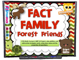 Fact Family Forest Friends Smart Board Game (CCSS.2.NBT.B.9)