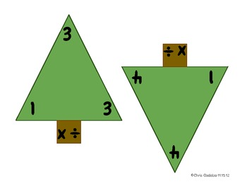 Winter Fact Triangles - Multiplication and Division Facts