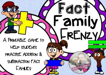 Fact Family Frenzy Board Game
