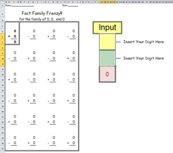 Fact Family Frenzy Worksheet, Addition and Subtraction