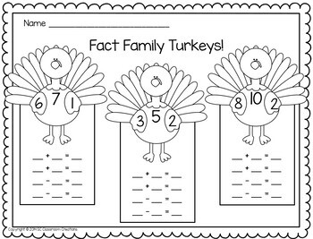 Fact Family Games and Activities: Mini-unit