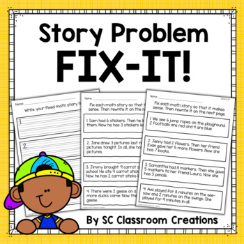 Word Problem Challenge-Story Problem Fix-it