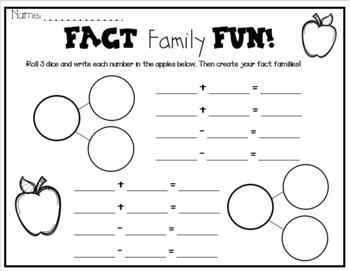 Fact Family Worksheet