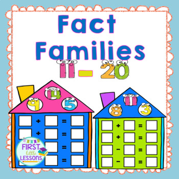 Fact Family Fun Addition And Subtraction:11 Thru 20