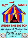 Under the Big Top Fact Family Fun Addition/Subtraction To