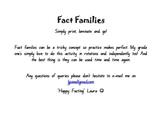 Fact Family Fun Cards