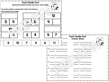 Fact Family Fun! Smart Notebook with Practice and Station Activity Sheets
