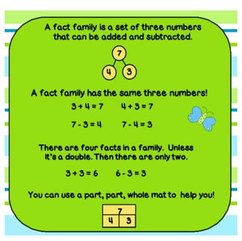 Fact Family Fun! Smart Notebook with Practice and Station