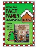 Fact Family Gingerbread House Craftivity