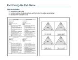 Fact Family Go Fish - Sixes Multiplication Set
