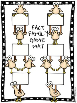 {FREEBIE} Fact Family Gobble Game- Customize for all Facts!
