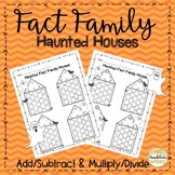 Fact Family Halloween Math Haunted Houses