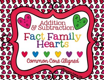 Fact Family Hearts--Addition & Subtraction