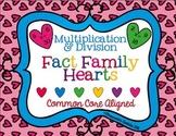 Fact Family Hearts--Multiplication & Division--3.OA.6 & 3.OA.7