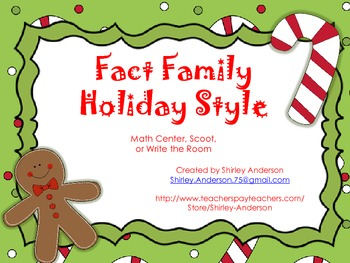 Fact Family- Holiday Style