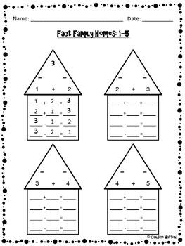 Fact Family Homes / Part-Part-Whole Bundle