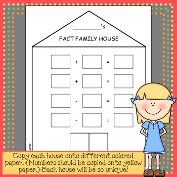 Fact Family House Craftivity - Addition & Subtraction