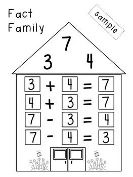 Fact Family House - Calendar Activity
