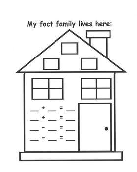 Fact Family House Freebie