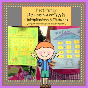 Fact Family House Craftivity - Multiplication & Division