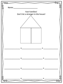 Fact Family House & Number Sentences