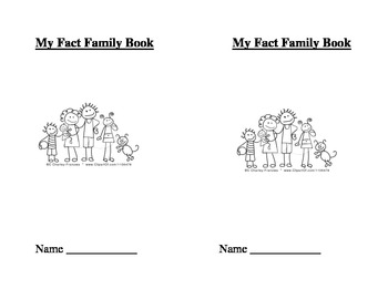 Fact Family House Template Cover