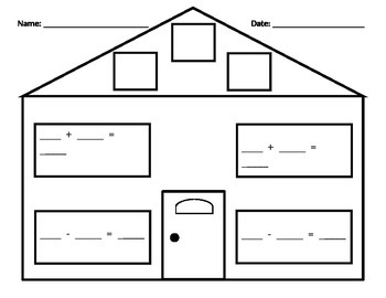 Fact Family House Worksheet