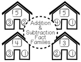 Fact Family Houses - Addition & Subtraction