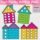 Fact Family Houses BUNDLE: Addition, Subtraction, Multiplication and Division