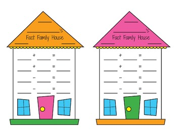 Fact Family Houses - Colorful and Black & White