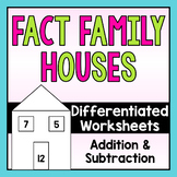 Fact Family Houses-Differentiated!