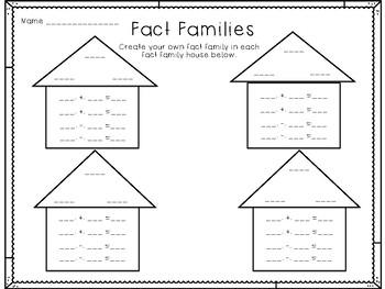 Fact Family Houses Freebie