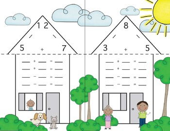 Fact Family Houses - Grouped by Addition Fact Strategy