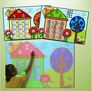 Fact Family Houses Promethean Board Flip Chart and Wipe Off Cards