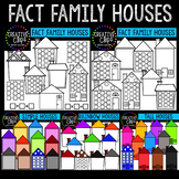 Fact Family Houses Mega Bundle {Creative Clips Clipart}