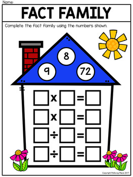 Fact Family Houses - Multiplication and Division