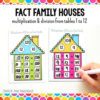 Fact Family Houses: Multiplication and Division